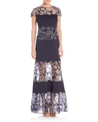 Tadashi Shoji | Lace Scuba Dress | Lyst