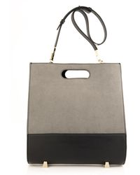 Alexander Wang - Chastity Leather and Suede Tote - Lyst