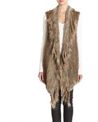 Haute Hippie Knit Rabbit Fur Vest - Lyst