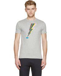 Paul Smith Heather Lightening Bolt T_Shirt - Lyst