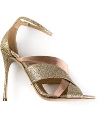 Sergio Rossi Criss-Cross Sandal gold - Lyst