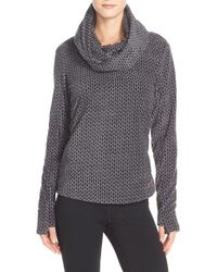 Bench - 'fixup' Cowl Neck Fleece Pullover - Lyst