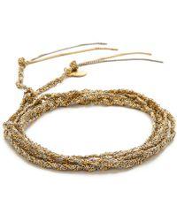 Sogoli - Braided Multi Purpose Wrap - Gold/silver/aqua - Lyst