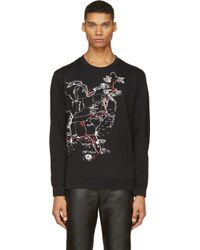 McQ by Alexander McQueen Black American Tour Map Sweatshirt - Lyst