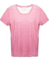 Iro Pink Distressed T-shirt - Lyst