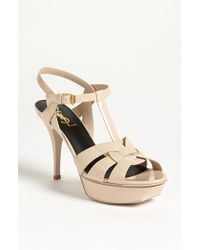 Saint Laurent 'Tribute' T-Strap Sandal - Lyst