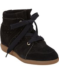 Isabel Marant Bobby Hidden-Wedge Sneakers - Lyst