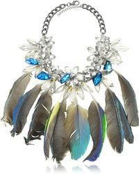 Anabela Chan - Crystals And Feathers Necklace - Lyst