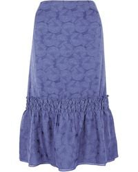 Richard Nicoll Navy Gathered Skirt - Lyst
