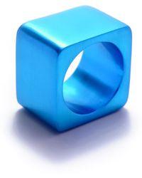 Filip Vanas - Tectonics Alpha Ring Turquoise - Lyst