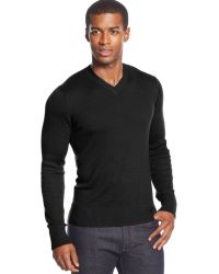 Sean John Big and Tall Textured V-neck Sweater - Lyst