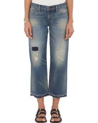 Simon Miller Frayed Lamere Cropped Jeans - Lyst