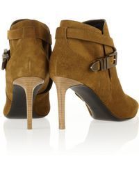 Saint Laurent Suede Ankle Boots - Lyst