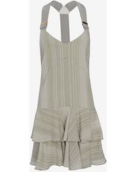 10 Crosby Derek Lam Exclusive Sage Print Ruffle Dress - Lyst