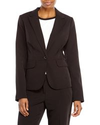 Laundry By Shelli Segal Black Seamed One-Button Blazer - Lyst