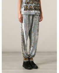 Ashish Sequinned Embellished Track Pants - Lyst