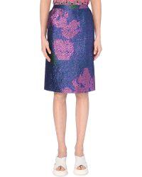 Dries Van Noten Floral-Print Pencil Skirt - For Women - Lyst