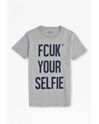 French Connection Fcuk Your Selfie T-Shirt - Lyst