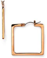 T Tahari - Square Hoop Earrings - Lyst