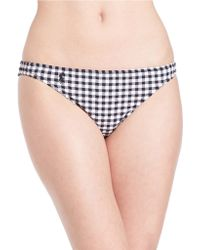 Polo Ralph Lauren | Seersucker Gingham Hipster Bikini Bottom | Lyst