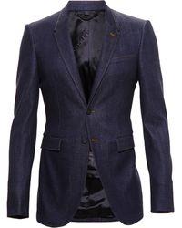 Burberry Prorsum Tailored Denim Jacket - Lyst