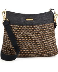 Eric Javits Escape Woven Straw Messenger - Lyst