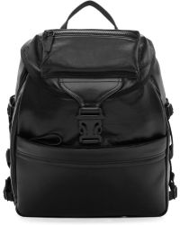 Alexander McQueen Black Leather Tech Ribcage Backpack black - Lyst
