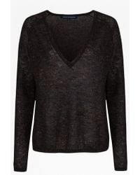 French Connection Frost Sparkle Knits Jumper - Lyst