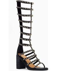 Nasty Gal La Cage Gladiator Sandal Studded Black - Lyst