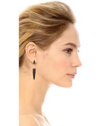 Maiyet - Double Spear Earrings - Black - Lyst