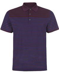 Z Zegna Striped Polo Shirt - Lyst