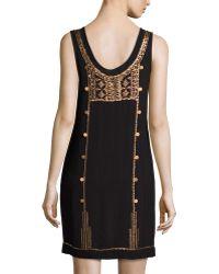 Cynthia Vincent - Afghan Metal Embellished Tank Dress - Lyst
