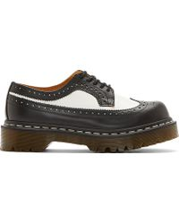 Dr. Martens Black and White Leather 5_eye Longwing Brogues - Lyst