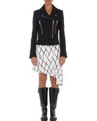 Balenciaga Fishnet Print Cady Skirt - Lyst