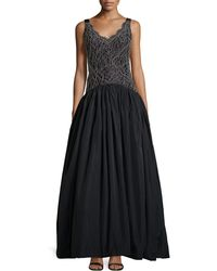 Kay J's By Kay Unger - Lace-bodice Ball Gown - Lyst