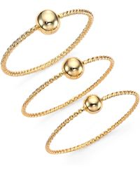 Giles & Brother Twist  Ball Triple Bangle Bracelet Set - Lyst