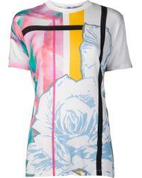 Prabal Gurung Abstract Rose Print Tee - Lyst