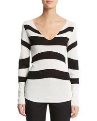 Anne Klein Intarsia Knit Sweater - Lyst