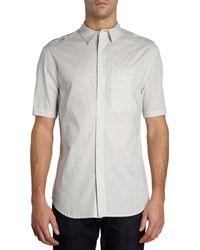 Elie Tahari Short Sleeve Check Shirt - Lyst