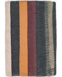 Zara Wide Striped Scarf - Lyst