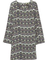 Issa Cutout Printed Silk Mini Dress - Lyst