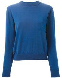 Peter Jensen Back Slit Sweater - Lyst