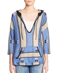 Twelfth Street Cynthia Vincent | Baja Embroidered Hooded Pullover | Lyst
