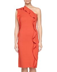 Philosophy di Alberta Ferretti Ruffle One-shoulder Dress - Lyst