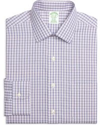 Brooks Brothers Non-Iron Milano Fit Hairline Check Dress Shirt - Lyst