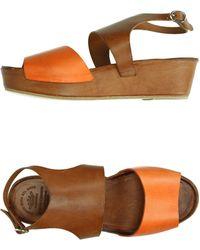 Officine Creative Sandals brown - Lyst