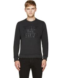 Surface To Air Black Faded Atm Slogan Sweatshirt - Lyst