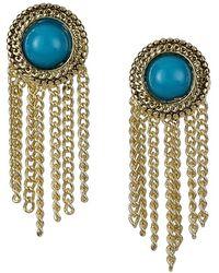 Sam Edelman - Stone Fringe Earrings - Turquoise - Lyst