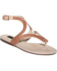 Steven by Steve Madden Resorts Flat Thong Sandals - Lyst
