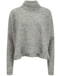 Designers Remix - Women's Fino Neck Turtle Neck Sweatshirt With Side Slits - Lyst